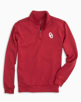 Southern Tide Gameday Performance 1/4 Zip Pullover - University of Oklahoma