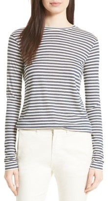 Women's Vince Midi Stripe Long Sleeve Tee $135 thestylecure.com