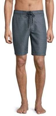 SURFSIDESUPPLY Stacked Shell Print Board Shorts