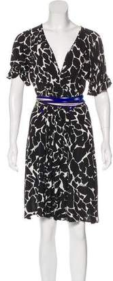 Just Cavalli Tie-Accented Knee-Length Dress