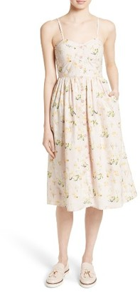 Women's Rebecca Taylor Floral Midi Dress $375 thestylecure.com