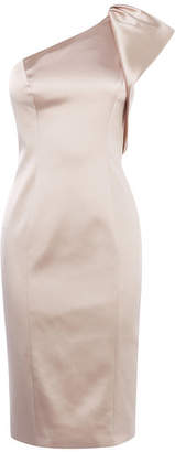 Karen Millen Satin One-Shoulder Dress