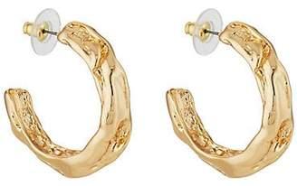 Kenneth Jay Lane WOMEN'S SCULPTED HOOP EARRINGS - GOLD