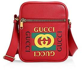 Gucci Men's Print Messenger Bag