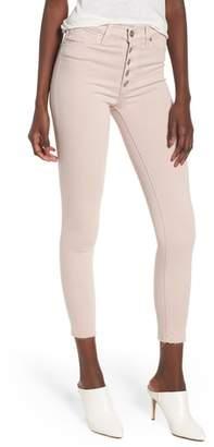 Hudson Barbara High Waist Raw Hem Ankle Skinny Jeans