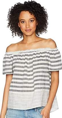 Lucky Brand Women's Stripe Off Shoulder TOP