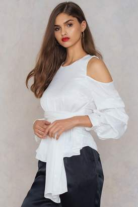 Hommage Bubbled Sleeve Top