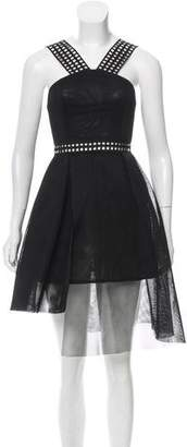 Self-Portrait Mesh Neoprene Dress