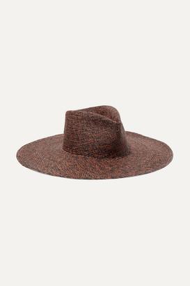 82f878d67b311d CLYDE Pinch Straw Panama Hat - Brick
