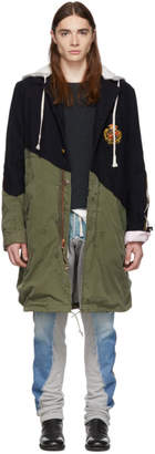 Greg Lauren Navy 50/50 Prep Army Fishtail Parka