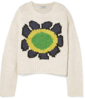 Opening Ceremony Intarsia Wool-blend Sweater - Ivory