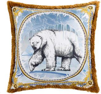 Versace Silk Animal Cushion - 50x50cm - Ben