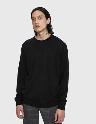 Wings + Horns Wings+Horns Swedish Merino Crewneck Sweater in Black