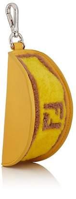 Fendi Men's Ostrich & Shearling Taco Coin Pouch - Yellow