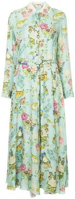 Vilshenko floral shirt dress
