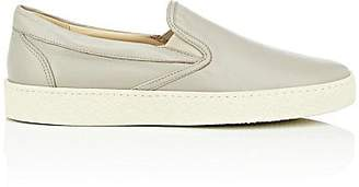 Barneys New York MEN'S CREPE-SOLE LEATHER SLIP-ON SNEAKERS - BEIGE/TAN SIZE 9 M