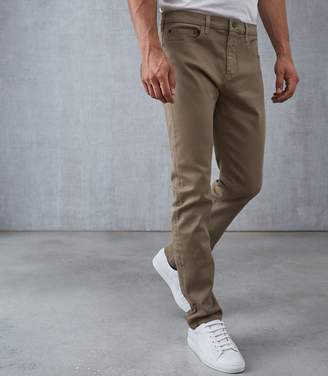 Reiss Our last order date for Christmas has now passed SOLOMON SLIM FIT TROUSERS Taupe