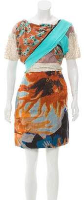 Michael Van Der Ham Patterned Mini Dress