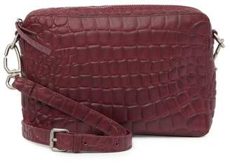 Liebeskind Berlin Village Croc Embossed Leather Mini Crossbody Clutch
