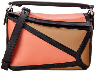 68e53c5570bd Loewe Puzzle Graphic Small Leather Shoulder Bag