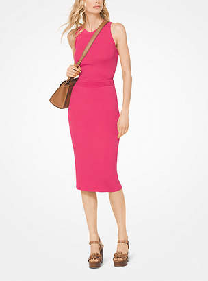 Michael Kors Ribbed Stretch-Viscose Tank