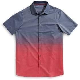 Perry Ellis Ombre Short-Sleeve Sport Shirt