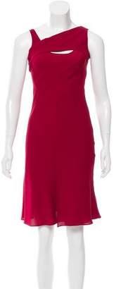 Narciso Rodriguez Silk Cowl Neck Dress