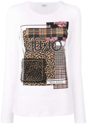 Liu Jo patchwork knitted top