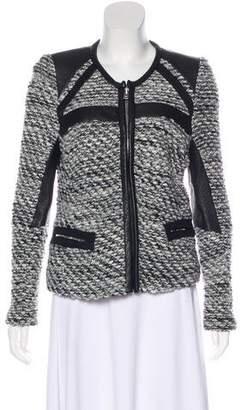 IRO Bouclé Leather-Accented Jacket
