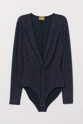 H&M Glittery Bodysuit - Black
