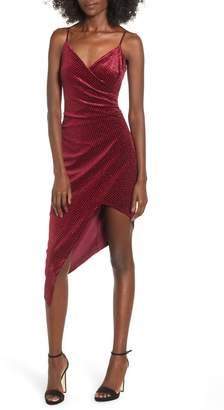 Love, Nickie Lew Velvet Surplice Dress