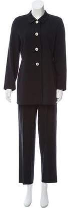 Max Mara Pinstripe Wool Pantsuit