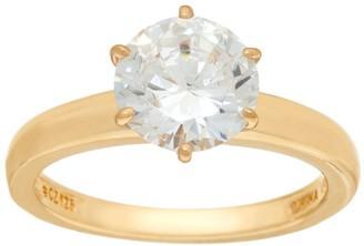 Diamonique 2.00 cttw Solitaire Ring, 14K Yellow Clad