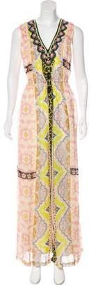 Vineet Bahl Printed Embellished Dress