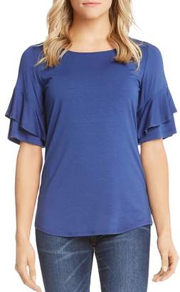 Karen Kane Tiered Ruffle-Sleeve Top