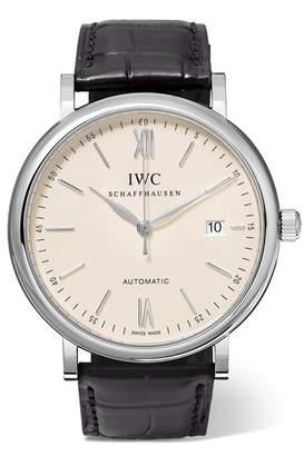 IWC SCHAFFHAUSEN Portofino Automatic 40mm Stainless Steel And Alligator Watch - Silver