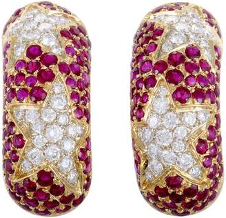 Chaumet Heritage  18K 5.70 Ct. Tw. Diamond & Ruby Earrings