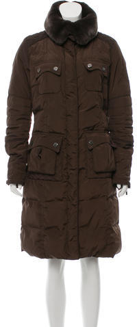 MonclerMoncler Fur-Trimmed Indiana Coat