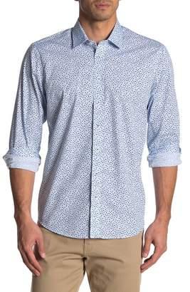 Toscano Mini Floral Print Long Sleeve Regular Fit Shirt