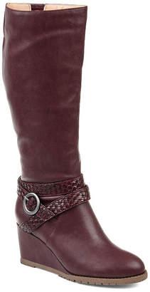 Journee Collection Womens Garin Dress Zip Boots Wedge Heel