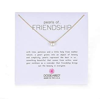 Dogeared Pearls of Friendship Freshwater Cultured Pearl on Filled Chain Necklace