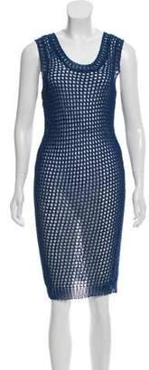 Cacharel Sleeveless Open Knit Midi Dress