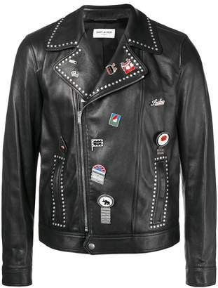 Saint Laurent motorcycle leather jacket