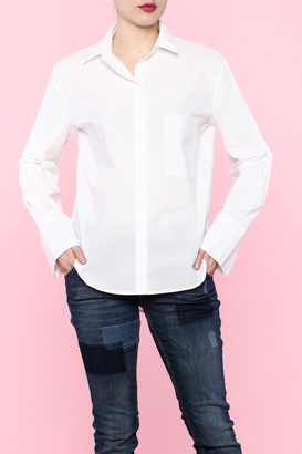Cotton Candy White Button Down $58 thestylecure.com