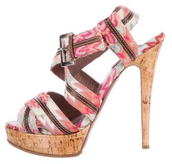 Missoni Crisscross Canvas Sandals