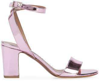 Tabitha Simmons Capitol xx Collection metallic ankle strap sandals