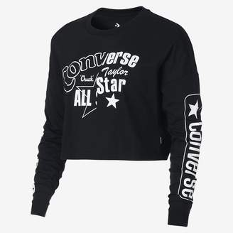 Converse Heritage Cropped Long Sleeve Womens T-Shirt