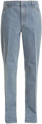 Toga Mid-rise straight-leg striped jeans