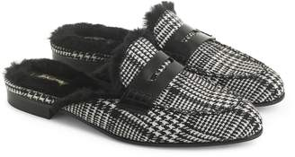 J.Crew Academy Loafer Mule with Faux Fur Lining