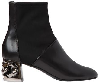 50mm Maxi Chain Leather Ankle Boots $950 thestylecure.com